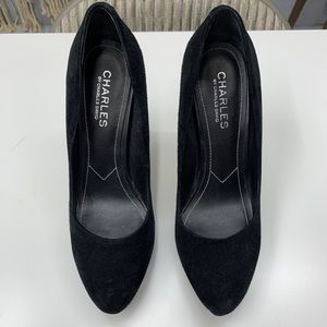Charles David Black Suede Pumps 7.5